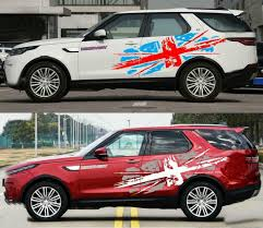 2 Pcs Graphic Union Jack Car Sticker British Flag Decal Fit Land Rover Discovery Ebay