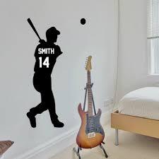 Personalized Baseball Player Vinyl Wall Decal Sticker Vinyl Written