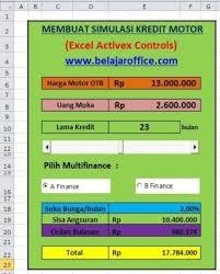 simulasi kredit motor activex control