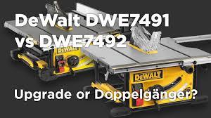 Dewalt Dwe7491 Vs Dwe7492 Table Saw What Are The Differences Machine Atlas