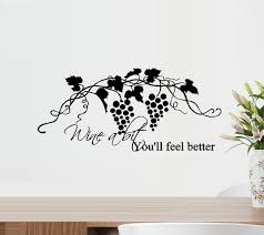 Decal Wine A Bit You Ll Feel Better Wall Decal Home Decor 20 X 40 Walmart Com Walmart Com