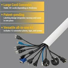 latching cord organizer wall mount kit