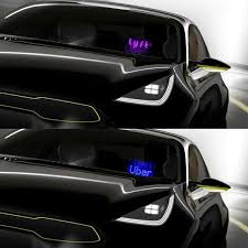 Both Uber Lyft Two Light Sign In One Panel Glow Led Light Logo Decal Stickers Hook On Car Window With Dc12v Cigarette Lighter Xpert Driver