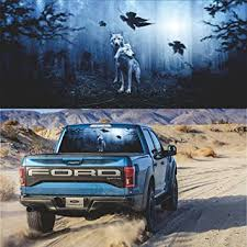 Amazon Com Practisol Wolf Decal Rear Window Decal Cool Car Sticker Decals Rear Window Decals For Car Truck Usv Jeep Universal Scratch Hidden Car Stickers 53x14in Arts Crafts Sewing