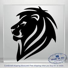Lion King Head Vinyl Decal Sticker Funny Auto Car Bumper Window Tablet Wall Jdm Ebay