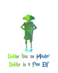 harry potter poster dobby quote wall art print home decor