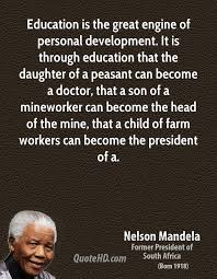 quotes about education nelson mandela quotes