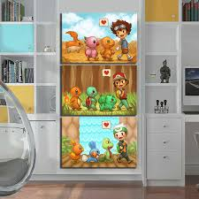 3 Piece Cartoon Wall Stickers Monster Digimon Monster Anime Poster Canvas Paintings For Children Room Wall Decor Painting Calligraphy Aliexpress