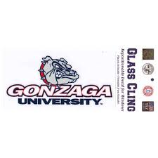 Gonzaga Bulldogs Repositionable Window Decal Large For Sale Online