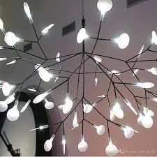 tree leaf pendant light led lamp