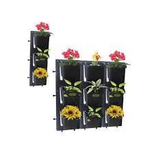 black wall garden planter rs 200