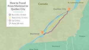 how to get from montreal to quebec city