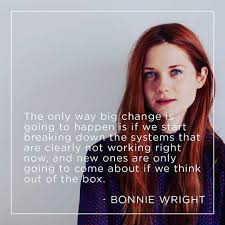 bonnie wright quote bonnie wright ginny weasley bonnie