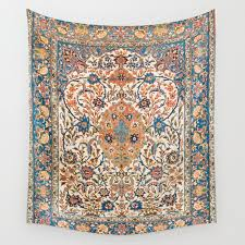 isfahan antique central persian carpet
