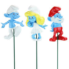 smurf plant stakes set of 3 only 14