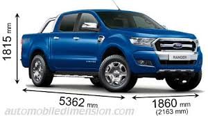 ford ranger dimensions and boot e