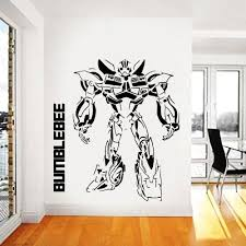 Amazon Com Transformers Wall Decal Prime Wall Sticker Bumblebee Wall Decal Kids Wall Sticker Bedroom Wall Sticker Nursery Wall Decal Kau 253 Handmade