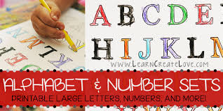 printable letters numbers