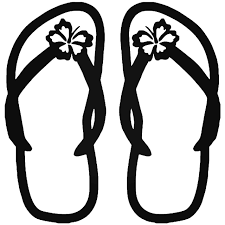 Hawaii Flip Flops Sandal 1 Vinyl Decal Sticker