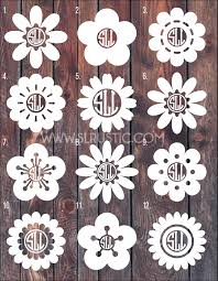 Flower Monogram Decal 3 Car Decal Yeti Decal Slrustic