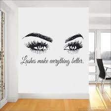 Eye Eyelashes Wall Decal Sticker Lashes Extensions Eyebrows Brows Beauty Salon Quote Wall Mural Graphic Design Wall Art L781 Wall Stickers Aliexpress