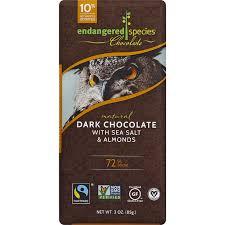 endangered species chocolate bar