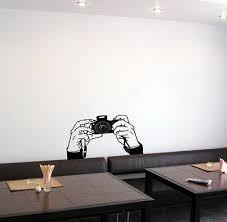Wall Vinyl Sticker Decal Art Paparazzi Hands Holding Camera Cute Design K139 Cute Camera Home Decor Decals Wall Sticker