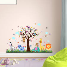Zoomie Kids Howland Zoo And Butterflies Grass Wall Decal Reviews Wayfair