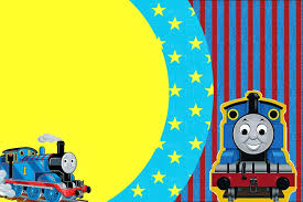 Tren Thomas Invitaciones Para Imprimir Gratis Cumpleanos De