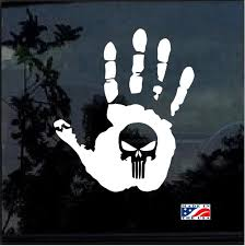 Jeep Wave Punisher Skull Jeep Decal Stickers A2 Aftermarket Replacement Non Factory Custom Sticker Shop