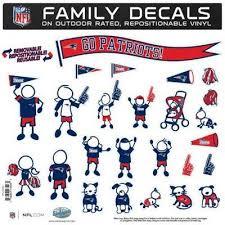 New England Patriots 12 X 12 Family Car Decal Sheet Family Decals Family Car Decals Chicago Bears