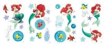 The Little Mermaid Princess Ariel Wall Sticker Pvc Mural Kids Room Decals Decor For Sale Online Ebay