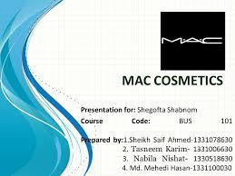 mac cosmetics presentation for