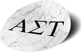Amazon Com Alpha Sigma Tau Sorority Black And White Marble With Letters Sticker Decal 3 Inch Greek For Window Laptop Computer Car Ast Everything Else