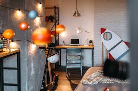 Room For Kids In Outer Space Decoration Style Stock Photo Download Image Now Istock