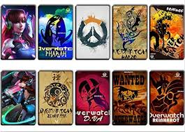 Amazon Com Gtotd Stickers For Game Character Overwatch 10 Pcs Sticker Decals Vinyls For Laptop Kids Cars Motorcycle Bicycle Skateboard Luggage Bumper Stickers Hippie Decals Bomb Waterproof Random Kitchen Dining