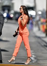 Alex Morgan's Orange Suit and Silver Heels July 2019 | POPSUGAR Fashion