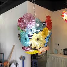 blowing flower chandelier light style