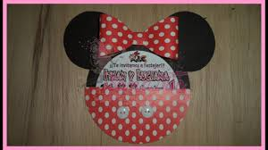 Como Hacer Invitacion De Minnie En Cartulina Diy Youtube