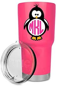 Penguin Decal Monogram Decal Yeti Monogram Decal Monogram Sticker Penguin Sticker Cute Decals Car Decals For Women Name Decal Wall Stickers Murals Amazon Canada