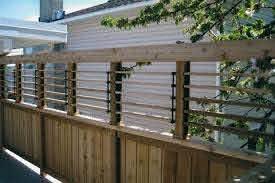 Flex Fence Louvered Hardware For Fences Decks Pergolas Hot Tub Privacy And So Much More Photo Gallery Pergola Pergola Designs Pergola Patio