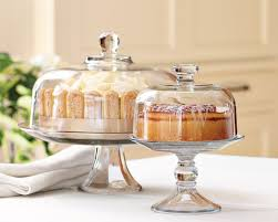 glass domed cake plate punch bowl