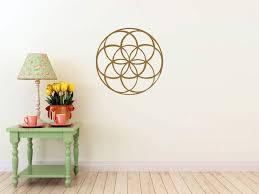 Amazon Com Seed Of Life Mandala Wall Decal Gold Metallic Measures 22 H X 22 W Home Kitchen