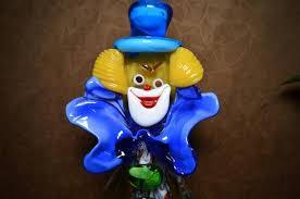 12 murano glass clown italian art glass
