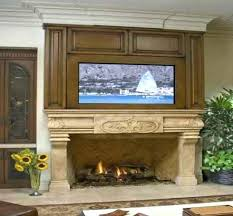 tv over fireplace hanging a flat screen