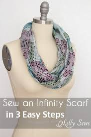 how to make an infinity scarf in just