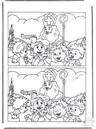 Zoek De Verschillen Sint Knutselen Sint