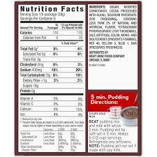 jello chocolate pudding nutrition