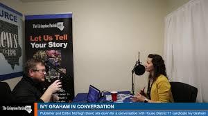 Ivy Graham in Conversation | Around Livingston Podcast |  livingstonparishnews.com