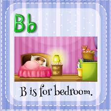 Flashcard Letter B Is For Bedroom Download Free Vectors Clipart Graphics Vector Art
